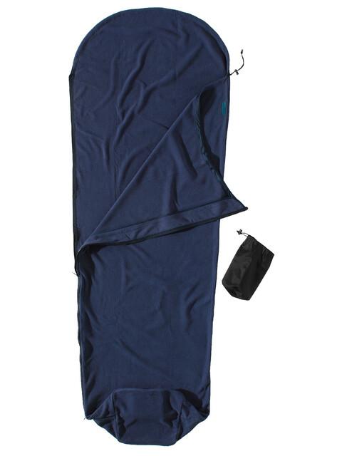 Cocoon - Drap sac de couchage momie Micro-Fleece - bleu foncé